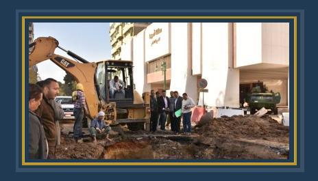 محافظ أسيوط يتفقد أعمال إصلاح ماسورة مياه الرئيسية بشارع الثورة