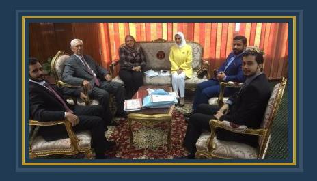 اجتماع الوفد البحرينى بمستشارى مجلس الدولة