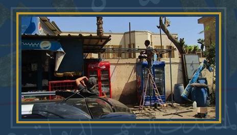 محافظة القاهرة تزيل الإعلانات المخالفة- صورة ارشيفية