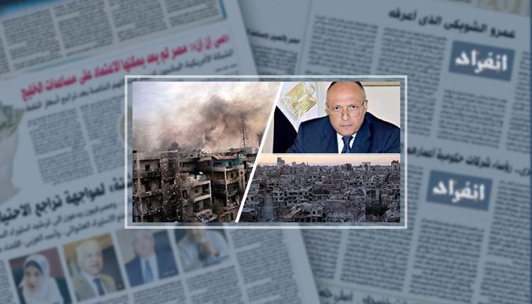 وزير الخارجية سامح شكرى وجانب من الوضع فى سوريا