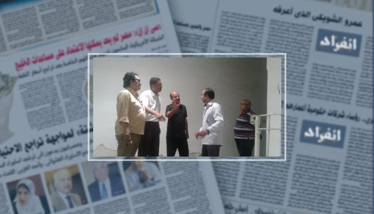 جمعان وعامر حسين فى استاد الإسكندرية