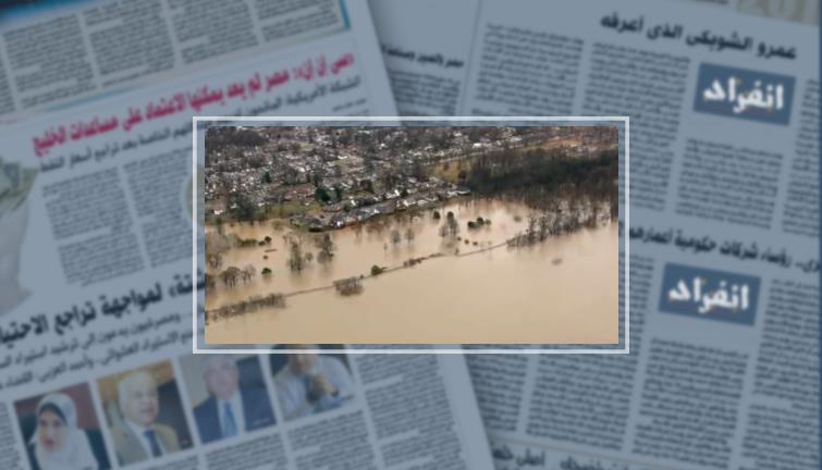 الفيضانات تغمر الأراضى الزراعية والمراعى شمال غرب ألبانيا  409776
