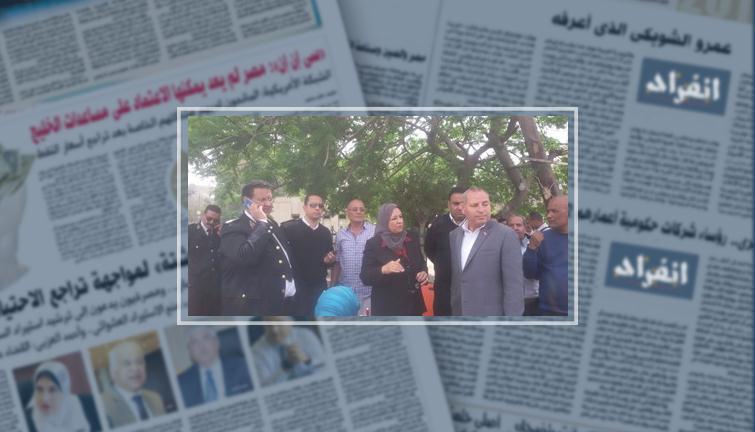 أجهزة جنوب القاهرة تشن حملة مكبرة لرفع إشغالات الطريق الدائرى - انفراد