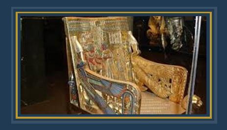 كرسى الملك توت عنخ آمون