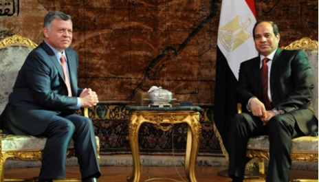 الرئيس السيسي والملك عبد الله الثاني