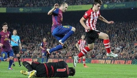 برشلونة يتقدم على بيلباو بهدف