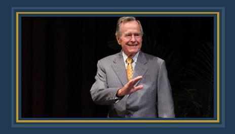 جورج بوش الأب  الرئيس الأمريكى الأسبق