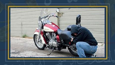سرقة دراجة بخارية - أرشيفية