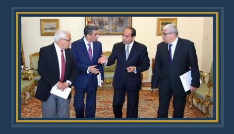 الرئيس السيسى مع رؤساء تحرير الصحف القومية