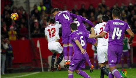 لقطة  الهدف الثاني من مباراة ريالد مدريد واشبيلية
