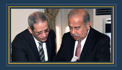 المهندس شريف إسماعيل رئيس الوزراء مع الدكتور الهلالى الشربينى وزير التربية والتعليم