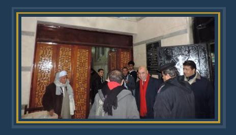 مدير امن مطروح داخل الكنيسة لمتابعة الحالة الامنية