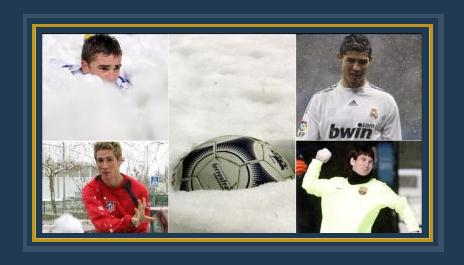 نجوم كرة القدم وسط الثلوج