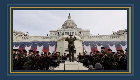 بروفة البحرية الأمريكية قبل حفل تنصيب ترامب