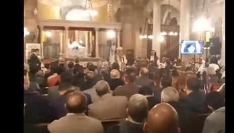 جانب من صلاة الأربعين علي أرواح شهداء الكنيسة البطرسية.