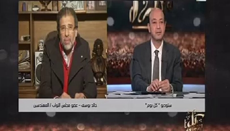 خالد يوسف في اتصال هاتفي مع عمرو أديب