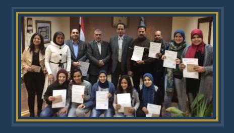 تكريم الفريق الخماسى لكرة القدم النسائية ووكيل وزارة الشباب والرياضة بالغربية