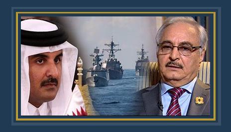 المشير خليفه حفتر قائد الجيش الليبى وتميم