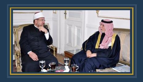 محمد مختار جمعة والشيخ عبد اللطيف الهميم رئيس ديوان الوقف السنى فى العراق