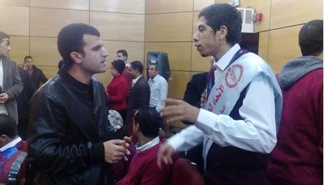 محمد سعيد أمين عام اتحاد الطلاب بمحافظة الجيزة