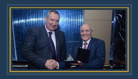 الدكتور محمد سعيد العصار وزير الدولة للإنتاج الحربى يستقبل  نائب رئيس الوزراء الروسى