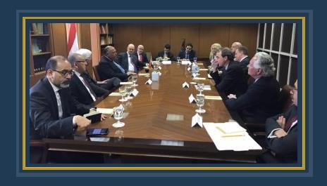 وزير الخارجية سامح شكرى وممثلى المنظمات الأمريكية اليهودية فى واشنطن