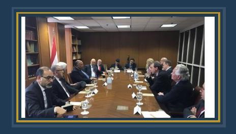 وزير الخارجية خلال لقائه وفد المنظمات