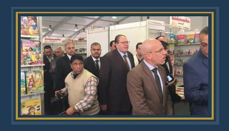 محمود الضبع وعادل المصرى فى معرض افتتاح معرض الشيخ زايد
