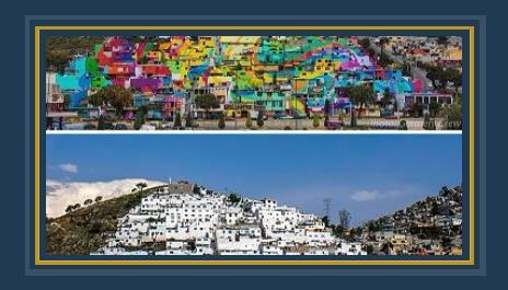 مدينة كاملة تم رسمها فى المكسيك