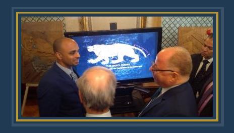 حلمى النمنم وزير الثقافة خلال الاحتفال بيوم التراث العربى