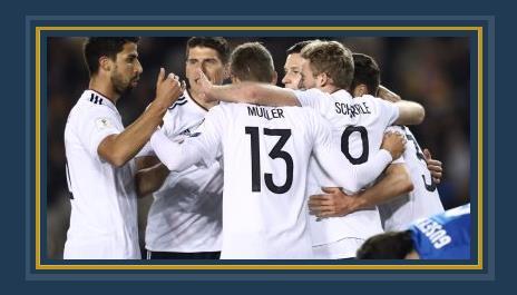 فرحة منتخب ألمانيا فى الشوط الأول