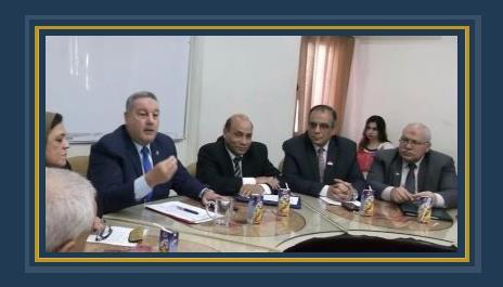 وكيل الوزارة محمد عبد الهادى خلال اجتماعه بقيادات المديرية