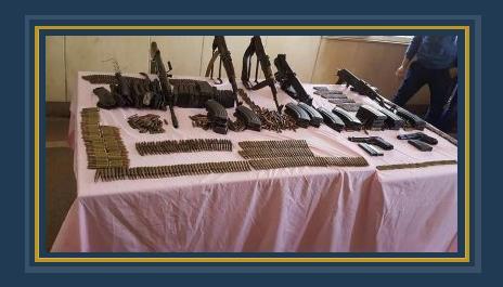 الأسلحة المضبوطة