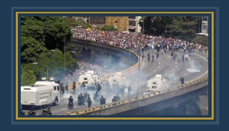 جانب من العنف فى فنزويلا _ صورة أرشيفية
