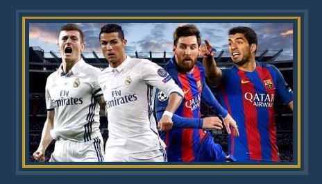 نجوم ريال مدريد وبرشلونة