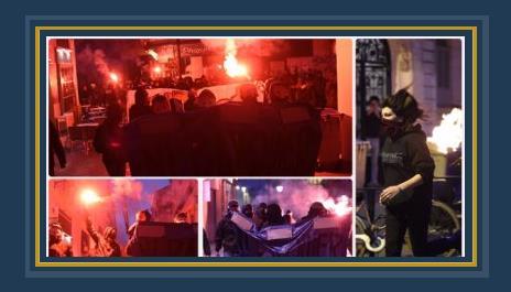 جانب من الاحتجاجات فى فرنسا
