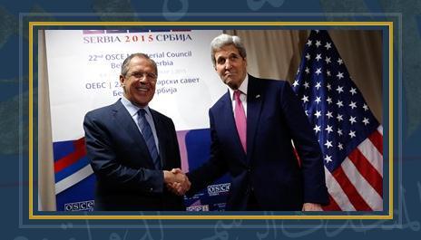 وزير خارجية أمريكا جون كيرى ونظيره الروسى لافروف