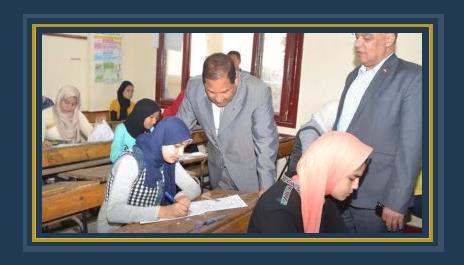 اللواء احمد ضيف محافظ الغربية خلال جولته لتفقد سير الامتحانات