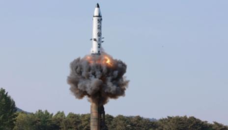 التجربة الصاروخية لكوريا الشمالية