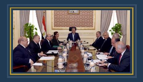 المهندس شريف إسماعيل فى اجتماع الحكومة - أرشيفية