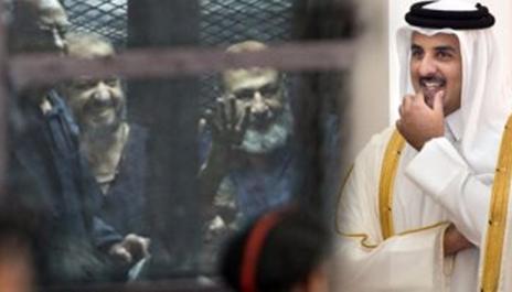 تميم وقيادات الجماعة الإرهابية