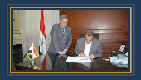 محافظ الجيزة ومحمد القطب خلال اعتماد تنسيق الثانوية العامة