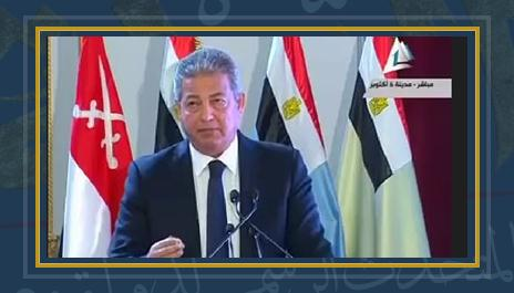 المهندس خالد عبد العزيز  وزير الرياضة