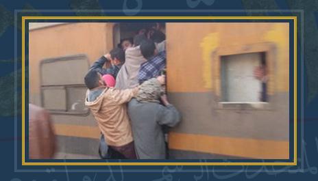 تكدس الركاب بالقطارات - صورة أرشيفية