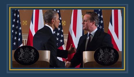 الرئيس باراك أوباما وديفيد كاميرون رئيس وزراء بريطانيا