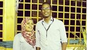 محمد توماس وخطيبته هدى زكريا