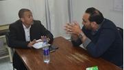 """محرر """" انفراد """" مع رئيس حزب الدستور الجديد"""