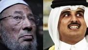 أمير قطر والقرضاوى