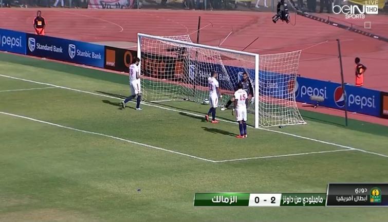 شاهد أهداف مباراة الزمالك وصن داونز اليوم السبت 15 10 2016 انفراد